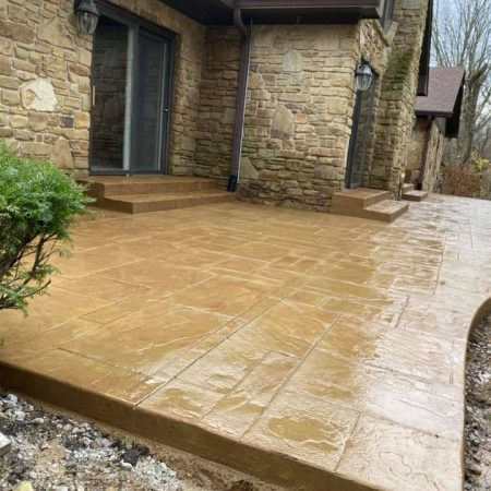 Stamped concrete installed in Miwlaukee WI